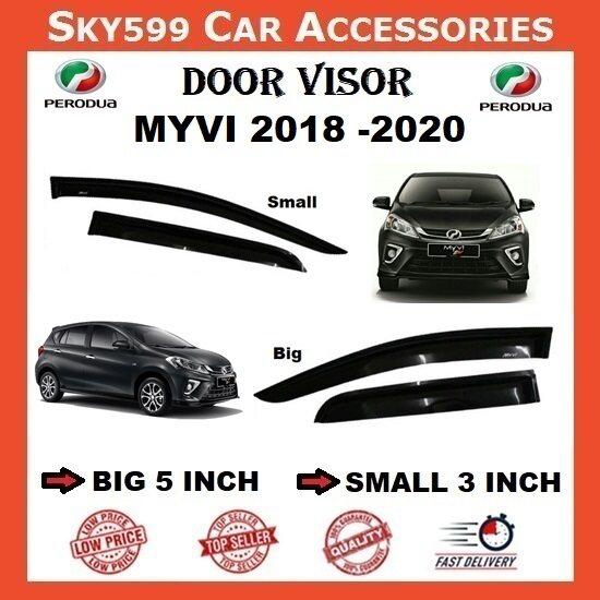 Perodua Myvi 2018-2020 3inch Door Visor /air press?1set 4 Door?