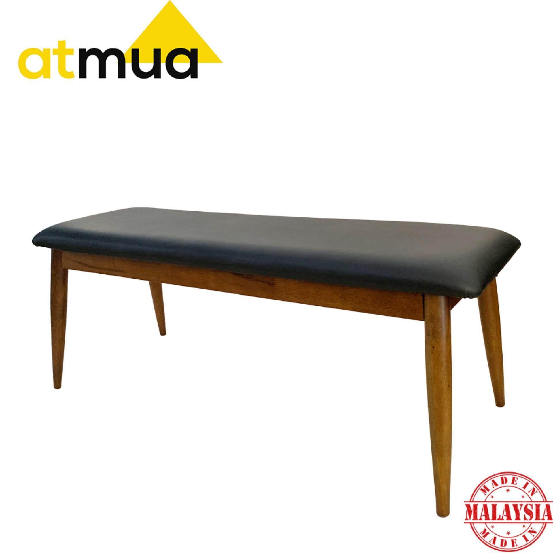 Atmua Borato Bench Chair for Indoor (Scandinavian Style) [Full Solid Wood]
