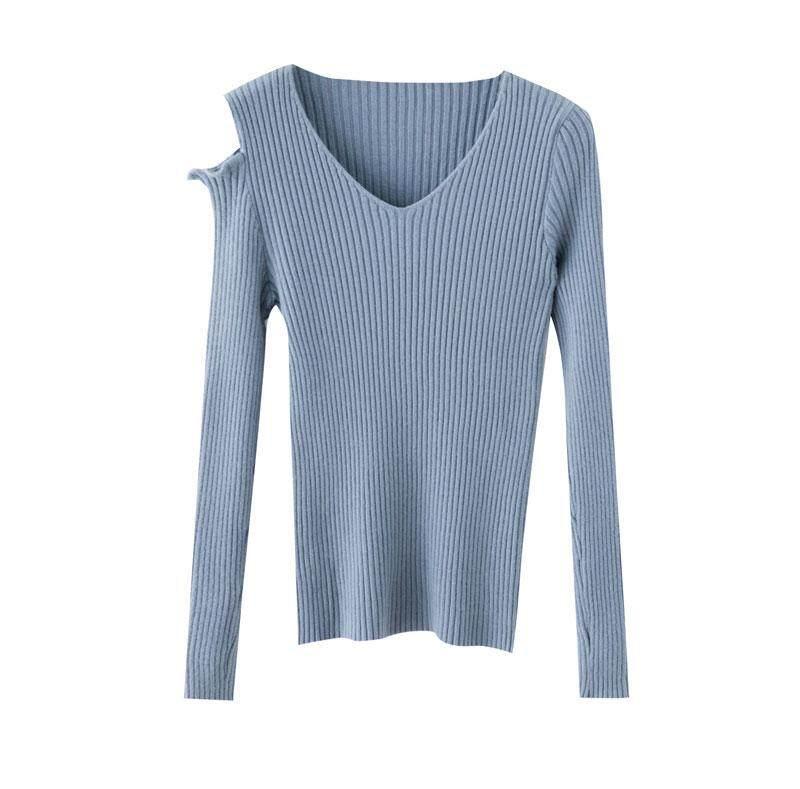 (Pre Order14 Days JYS Fashion Korean Style Women Knit TopCollection526-8196col525a-8196--Blue - One size