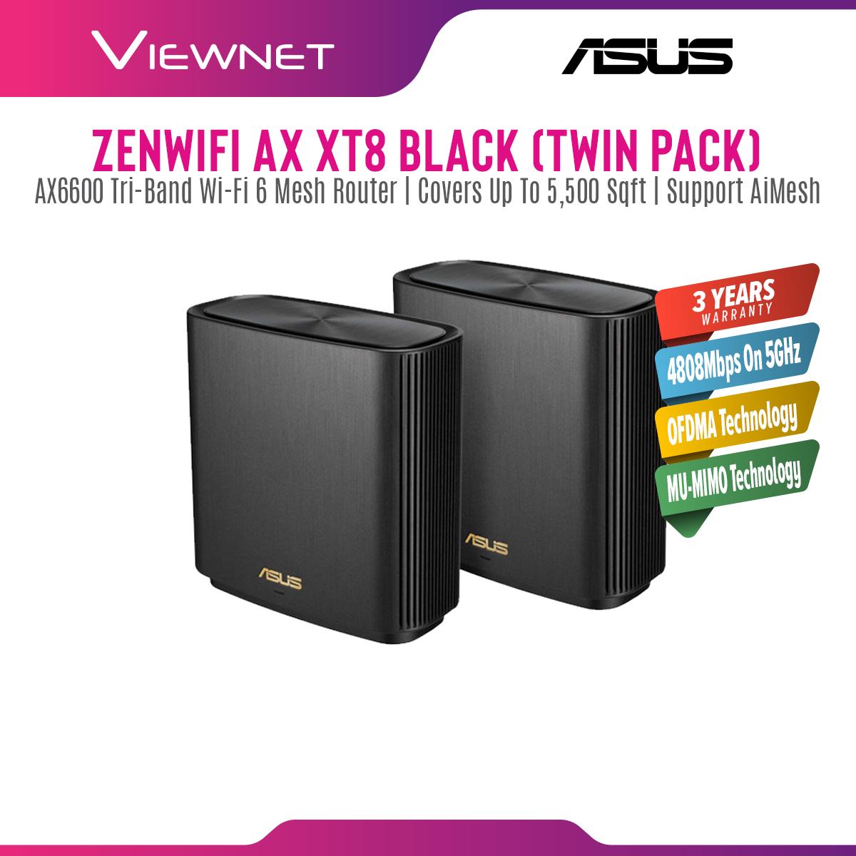 [🔥HOT MODEL] ASUS New Mesh ZenWiFi AX XT8 White WiFi 6 Mesh WiFi System AiMesh (Twin Pack)