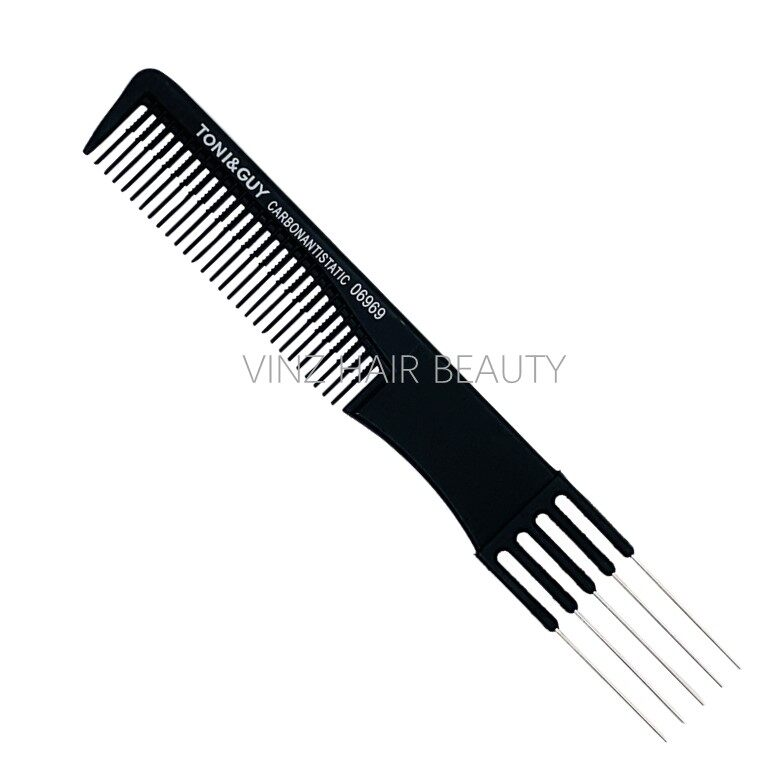 TONI&GUY Carbon Antistatic Hairdressing Teasing Comb - 06969