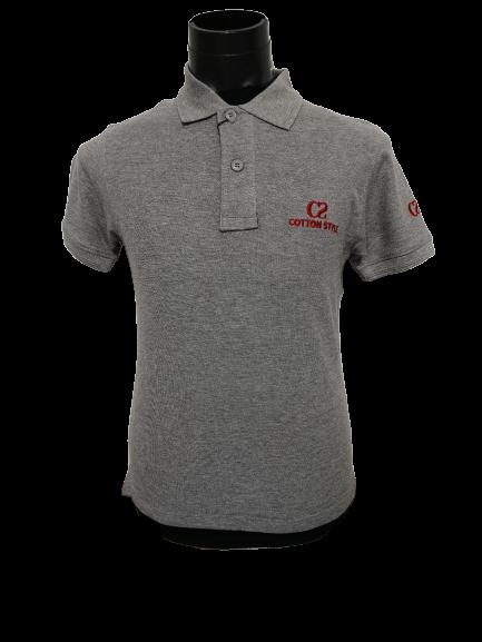 Ready Stock - Korean Style Men Polo Shirt Collection - M-1009 Cotton Style Light Grey