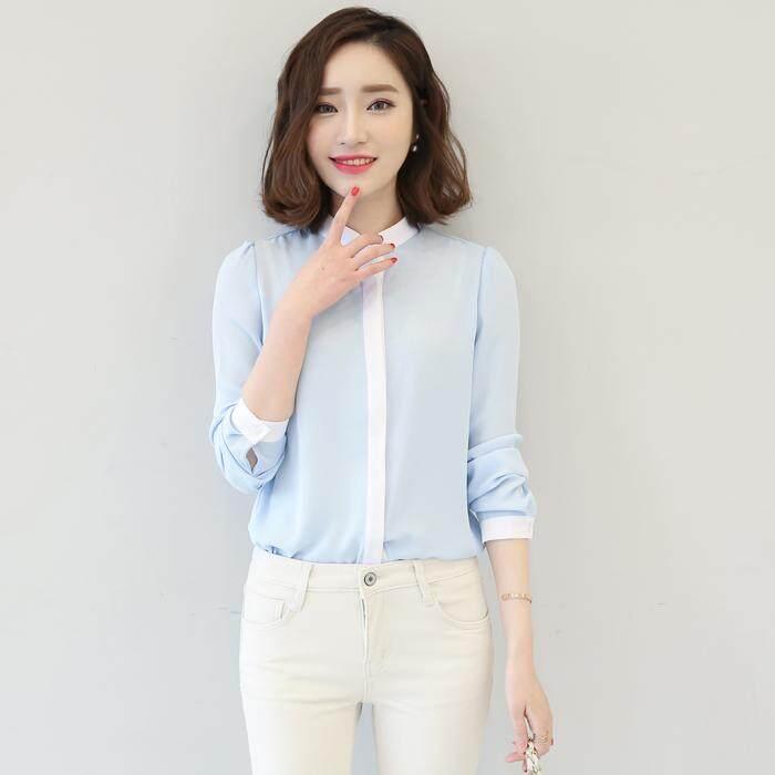 (Pre Order14 Days JYS Fashion Korean Style Women OL Top Collection-51721col517-21--Light Blue -S