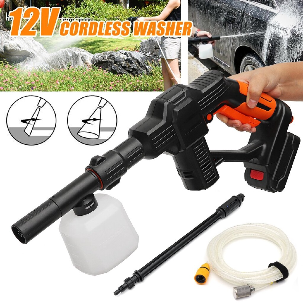 Automotive Tools & Equipment - Car Cordless Pressure Power Cleaner Washer Gun Water Hose Nozzle Li-Ion - Car Replacement Parts