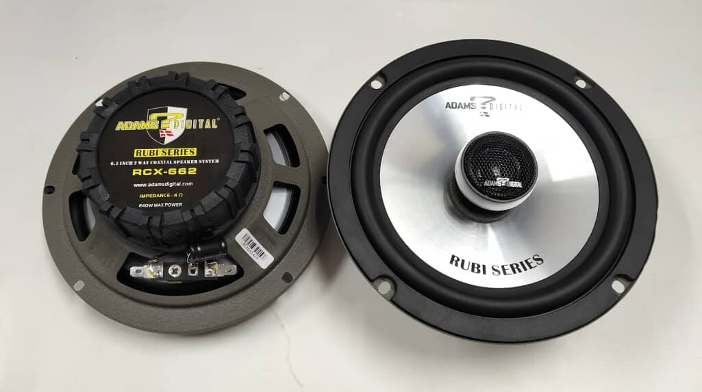 Adams Digital RUBI Series RCX-662 6.5 inch 2-Way Coaxial Speaker 240W Max Power (2 pc) ORIGINAL