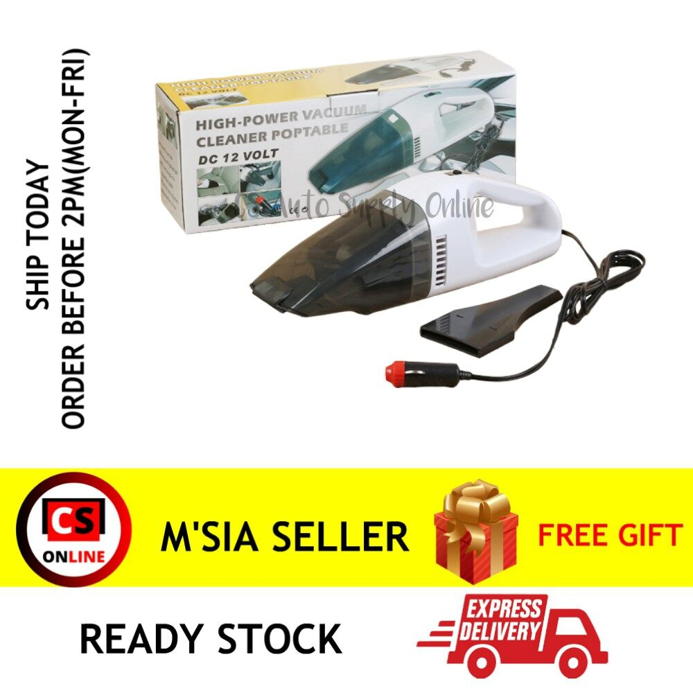 [cs online] Multi functional Wet Dry 2 way Dual use Car 12V Vacuum Vacumn Cleaner ready stock