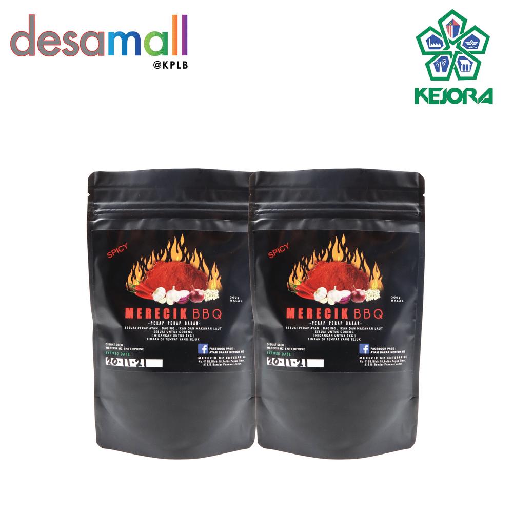 [Combo 4] MERECIK BBQ 2 Pack Original & 2 Pack Spicy Rempah Perapan Serbaguna Untuk Goreng atau Bakar (4 x 300g)