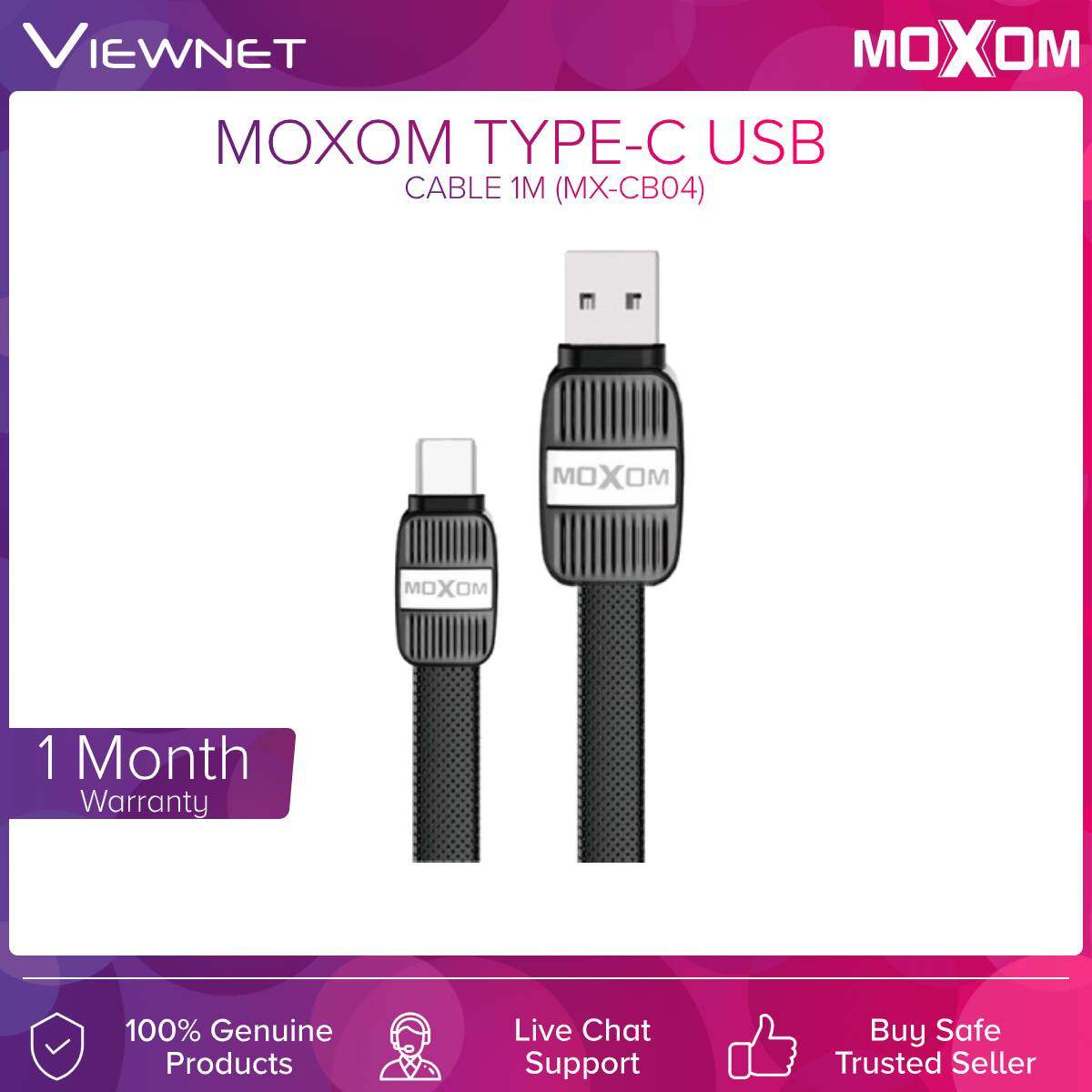 Moxom Micro Usb / 8 Pin / Type-c Cable 1M (MX-CB04) (BLK)