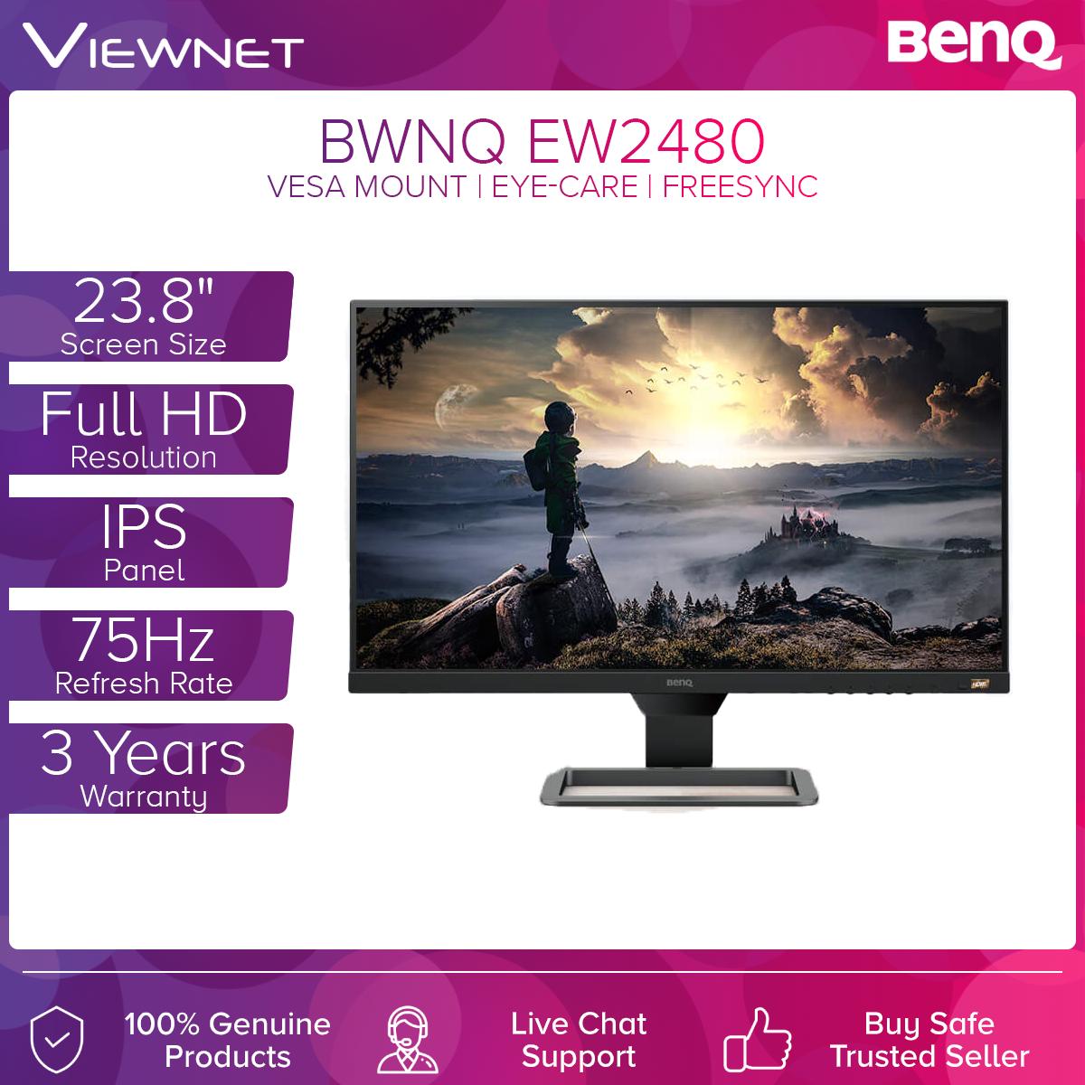 BenQ EW2480 24 inch HDRi Screen Auto-adjustment Tech Eye Care Monitor