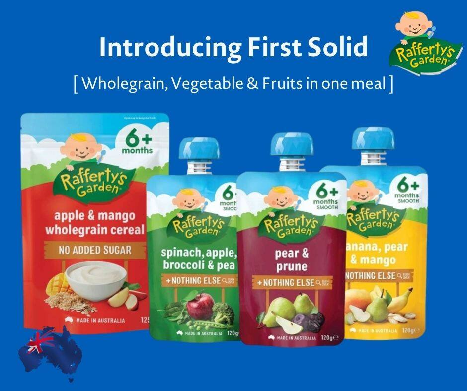 Rafferty\'s Garden Introduction to First Solid Set 6m ( Baby Cereal and Puree )