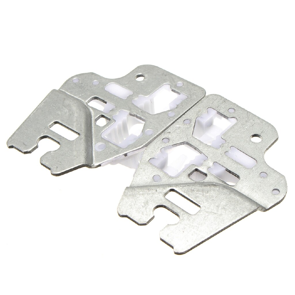 Windscreen Wipers & Windows - Pair L + R Front Window Regulator Repair Clip Bracket For BMW E46 323i 325i 328i - Car Replacement Parts