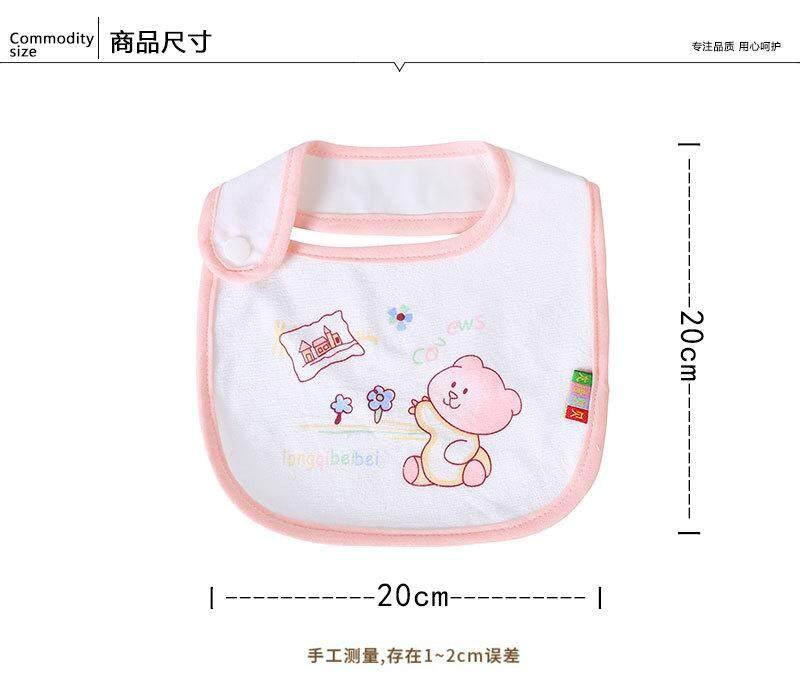 5 Pieces Velvet Baby Bibs Saliva Towel Clothing Feeding Bibs Toddler Accessories