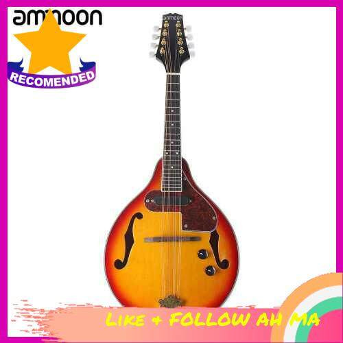 Best Selling ammoon Adjustable 8-String Electric A Style Mandolin Rosewood Fingerboard String Instrument with Cable Strings Cleaning Cloth
