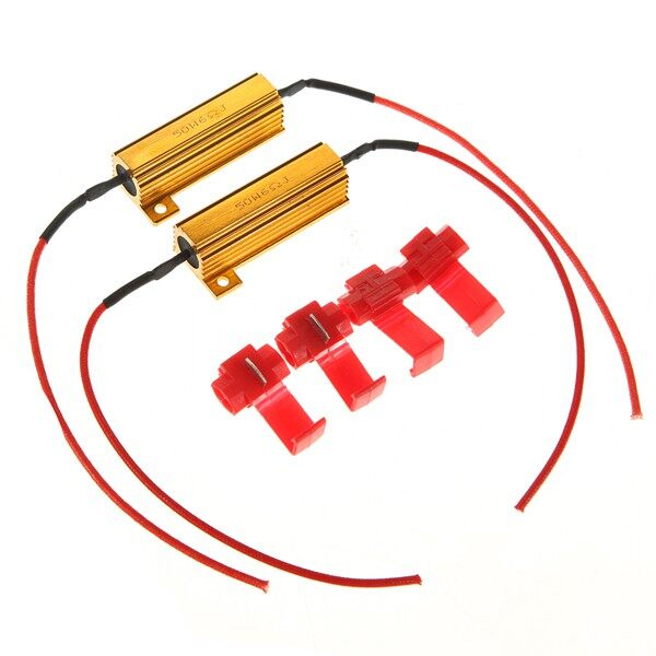 Moto Spare Parts - 2 PIECE(s) 50W Flash Rate Load Resistors LED Turn Signals Light Mototcycle 6 - Motorcycles, & Accessories