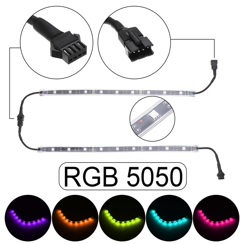 Car Lights - 14 PIECE(s) RGB Truck Underglow Under Body Neon Accent Glow Car LED Strip Lights - Replacement Parts