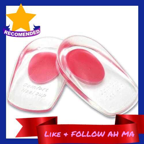 Best Selling 1 Pair Silicone Gel Heel Cups Pads Shoe Inserts Soft Anti-slip Foot Pain Relief Insoles Cushion Foot Care for Women and Men (Red)