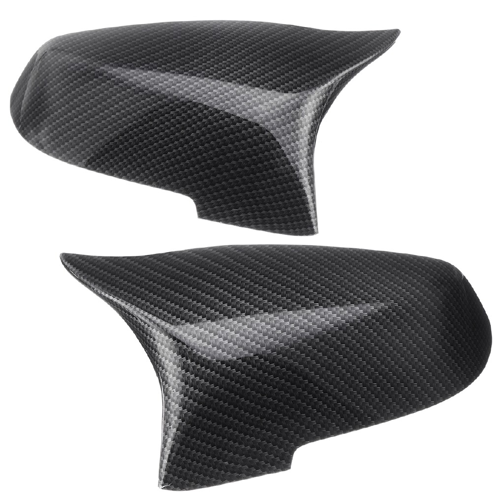 Automotive Tools & Equipment - 2 PIECE(s) Carbon Fiber Side Rearview Mirror Cover Cap For BMW 5 6 7 Series F10 F11 - Car Replacement Parts