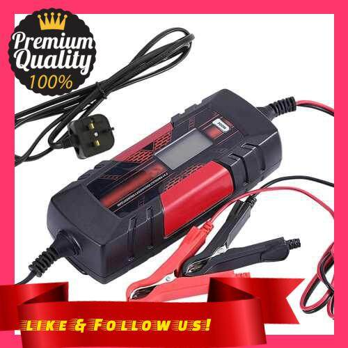 People\'s Choice 12 V 4.5A 3-Stage Automatic Intelligent Battery Charge Device with LCD Display for AGM GEL SLA WET Batteries (Uk)