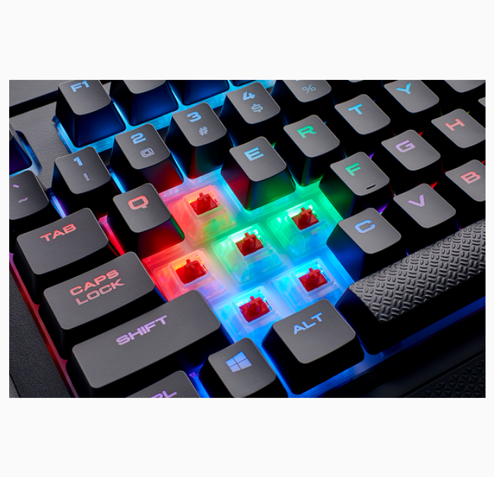 CORSAIR KEYBOARD WIRED K68 MECHANICAL RGB DUST/SPILL RESISTANT (CH-9102010-NA)MX RED