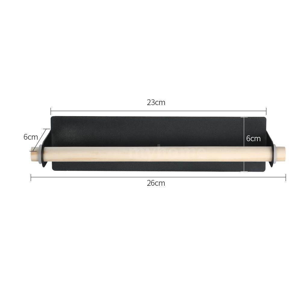 Home Storage & Organization - Space-saving Towel Bar Self-adhesive Single Pole Towel Bar Towel Holder Towel Rack Plastic Wrap - BLACK
