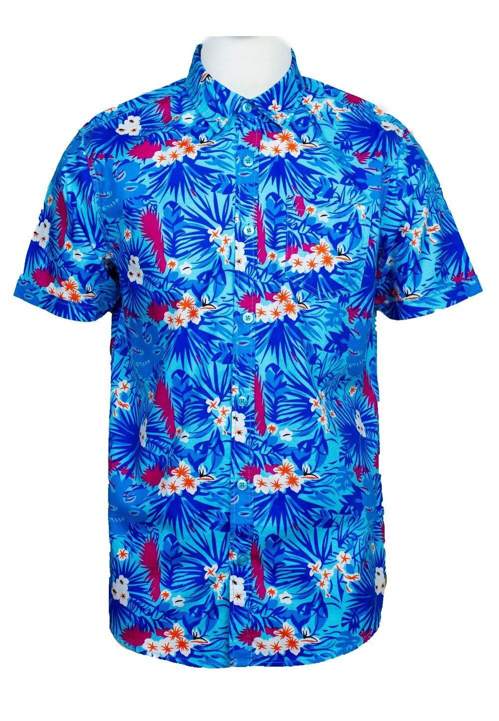 Short Sleeve Shirt with Flower Print-814