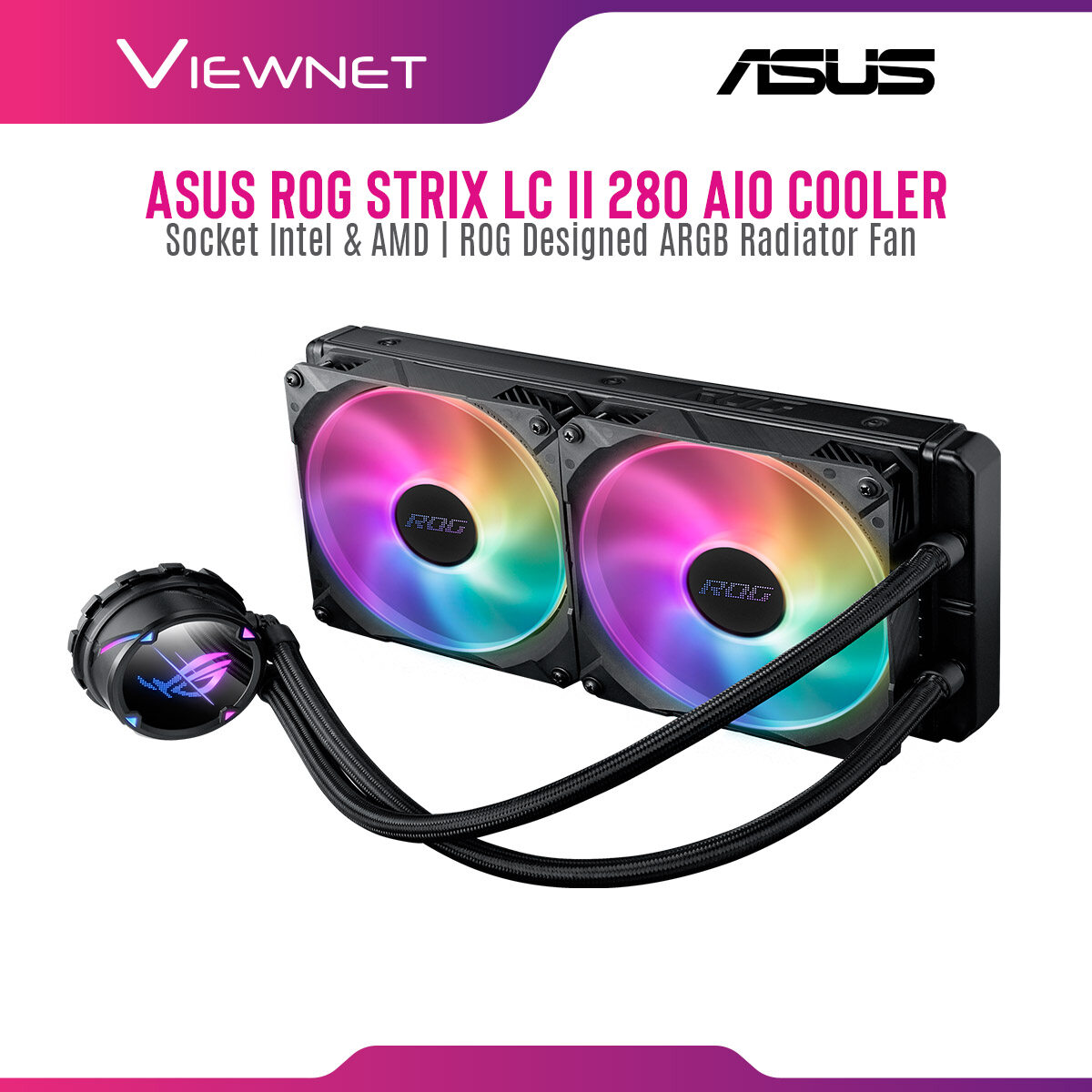 Asus ROG STRIX LC II 280 ARGB ROG Strix LC II 280 ARGB all-in-one liquid CPU cooler with Aura Sync