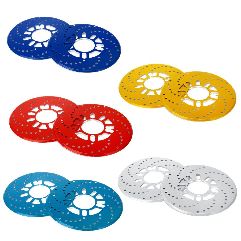 Tyres & Wheels - 2x Aluminium Car Wheel Brake Disc Cover Vehicle Decorative Rotor Cross - RED / LIGHT BLUE / GOLD / SILVER / DARK BLUE
