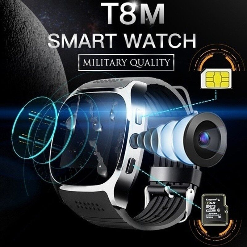 BLUETOOTH Smart Watch FULL HD IPS BLUETOOTH Sd SIM Phone Card Slot Call SMS Camera - BLUE / BLACK / WHITE