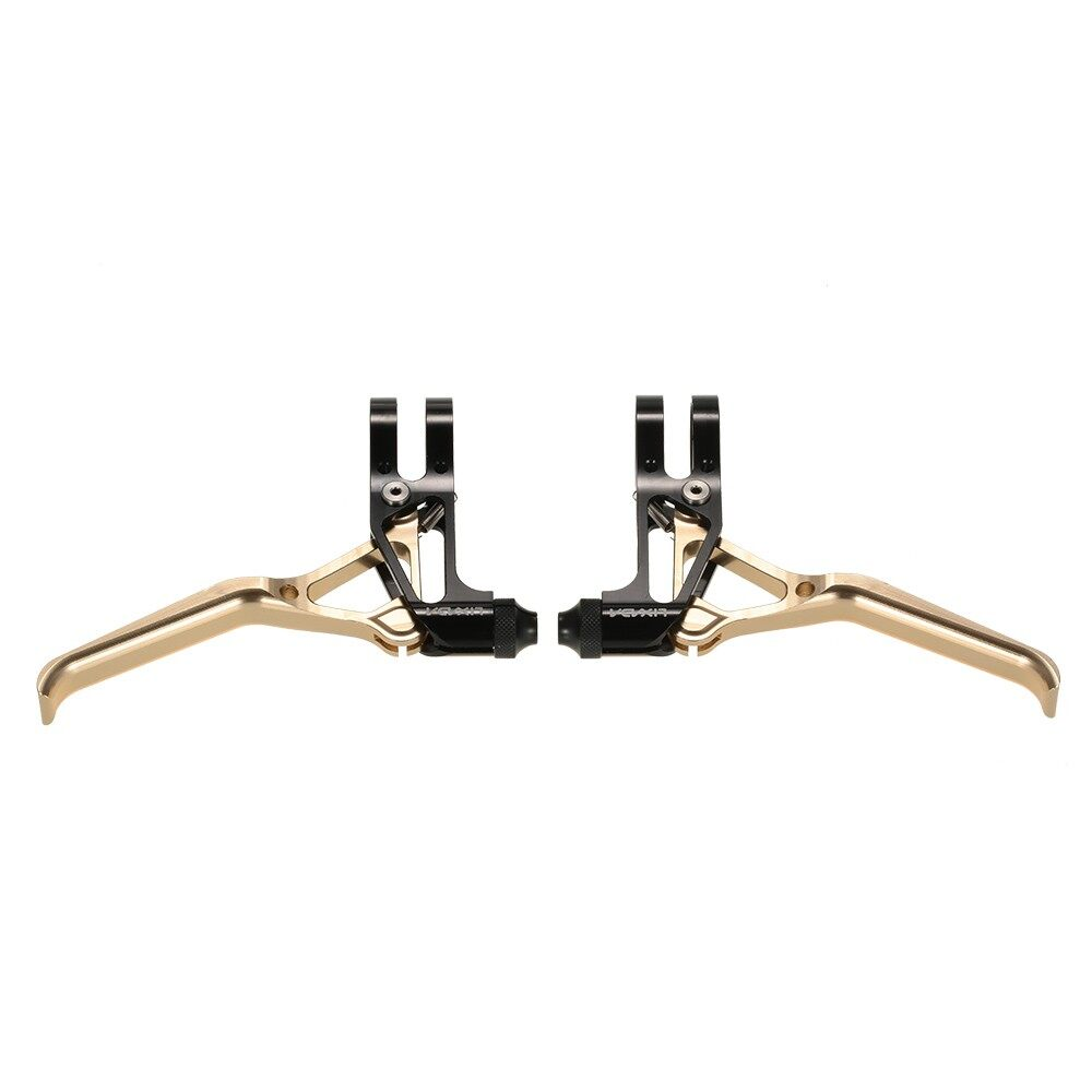 Bikes - 1 Pair CNC Aluminum V-brake Disc Brakes Lever Mountain Bike Bicycle Br - RED / SILVER / GOLD / BLACK