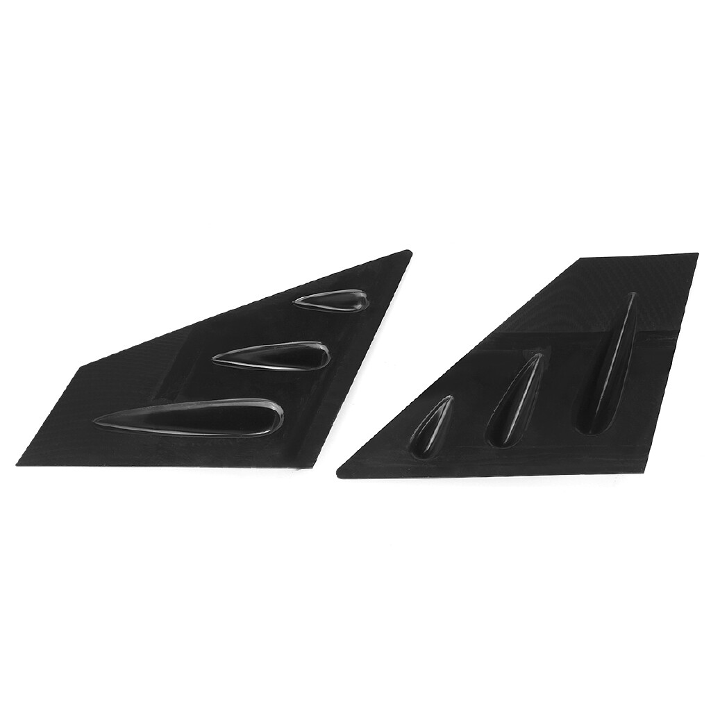 Windscreen Wipers & Windows - 2 PIECE(s) Front Car Window Louver Side Vent Black Fit For 2015- Subaru WRX STI - Car Replacement Parts
