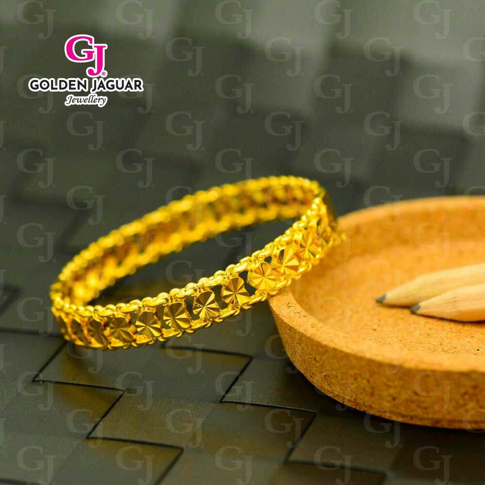 GJ Jewellery Emas Korea Bangles - Love Kikir Hook (5566026)