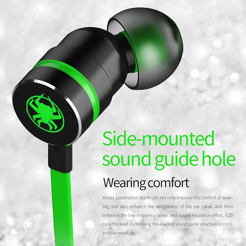 PLEXTONE G20 Upgraded Hammerhead Bass Gaming Earphones with Microphone Magnetic Gaming Head SET Gamer - BLACK / RED / GREEN