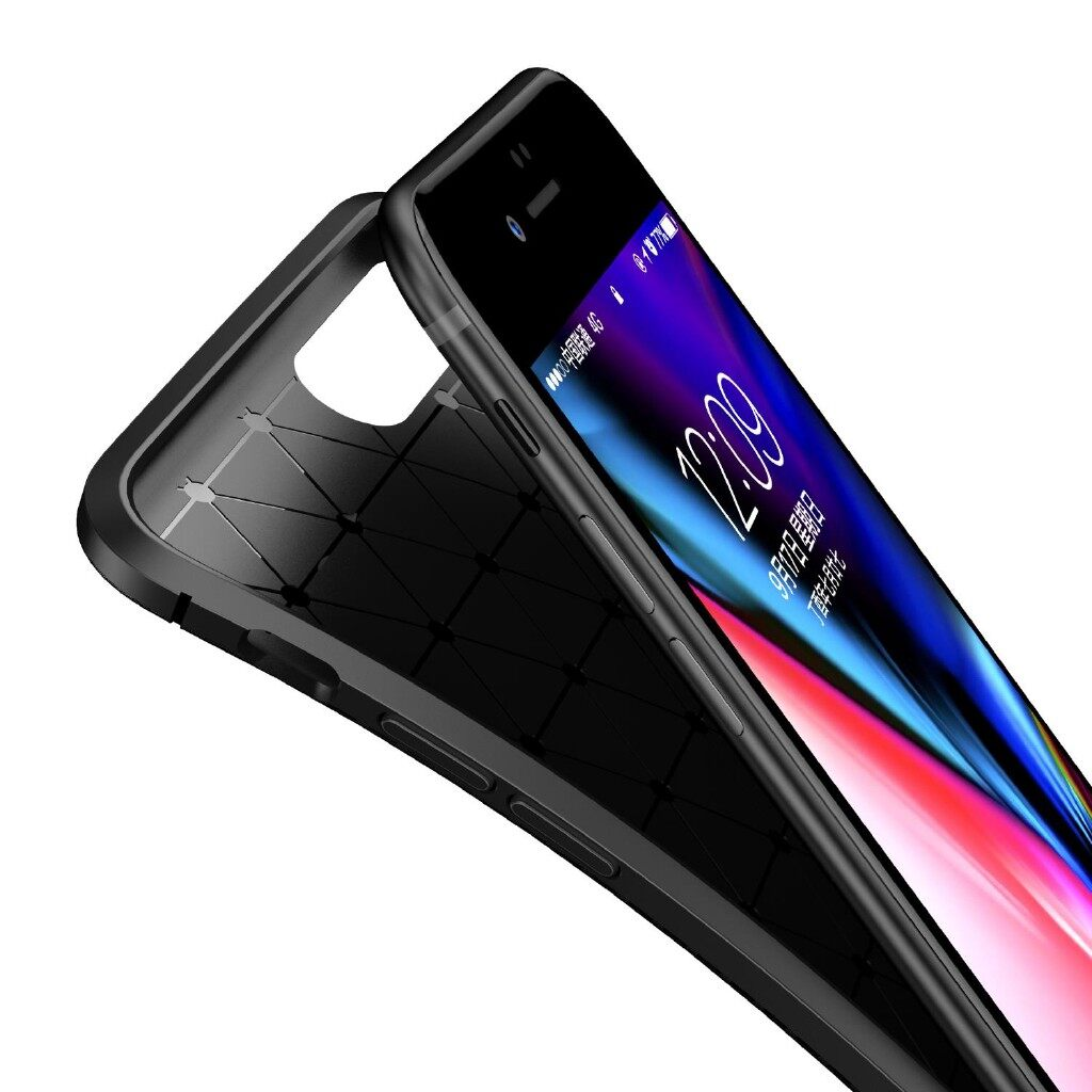 iPh Soft Cover - Protective Case For iPh 7 Plus Slim Carbon Fiber Soft TPU Cover - BLACK / BLUE / BROWN