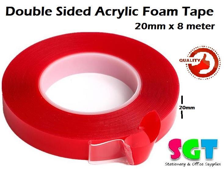 Acrylic Foam Tape 20mm x 8 meter