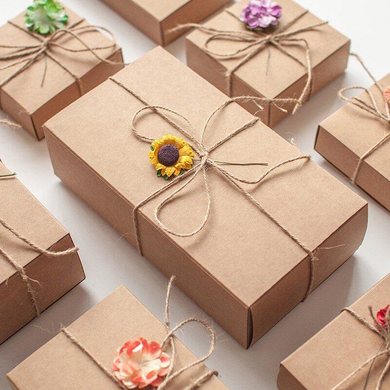 Craft Paper Gift Box / pcs Kotak DIY