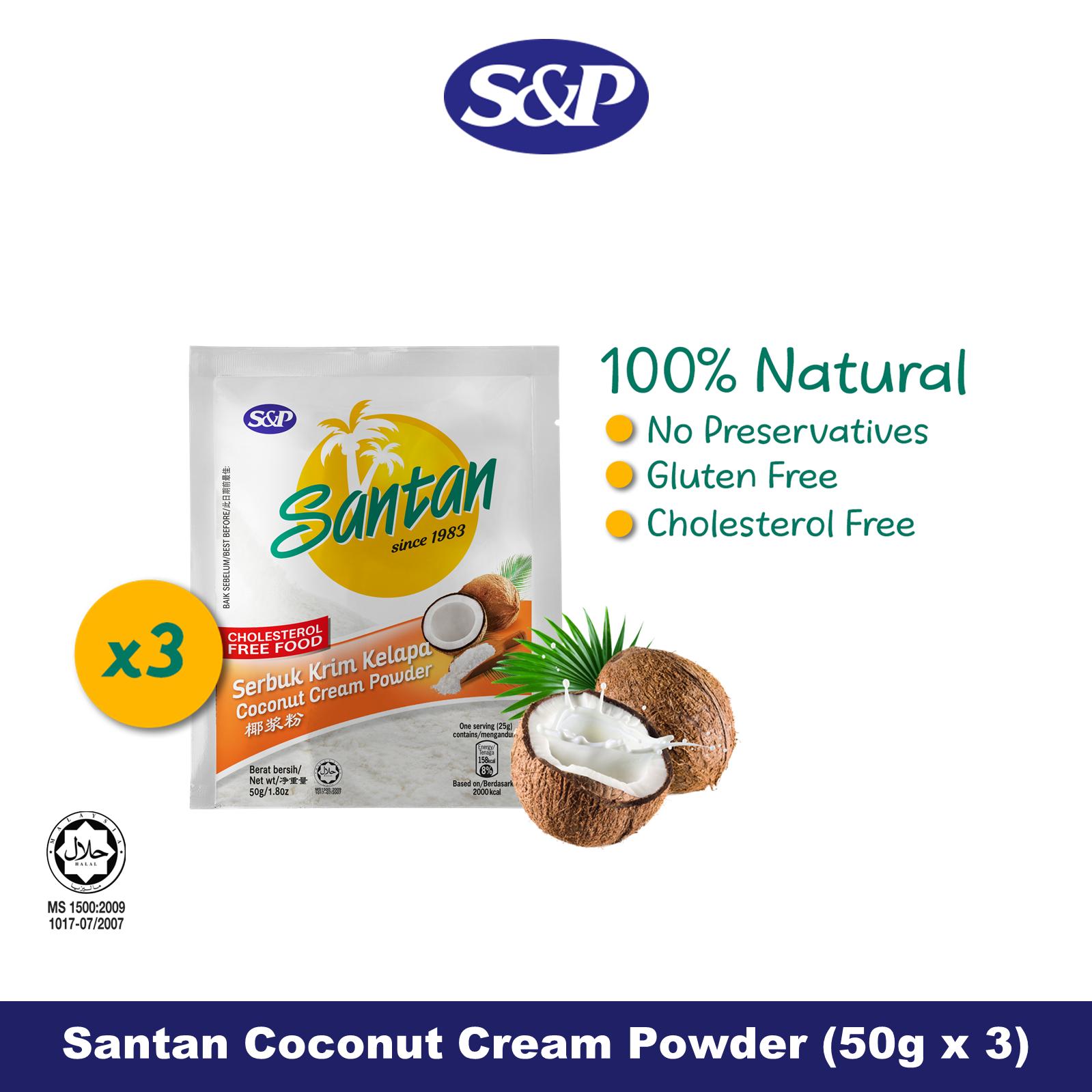 S&P Santan Coconut Cream Powder Serbuk Santan Kelapa (50g x3)