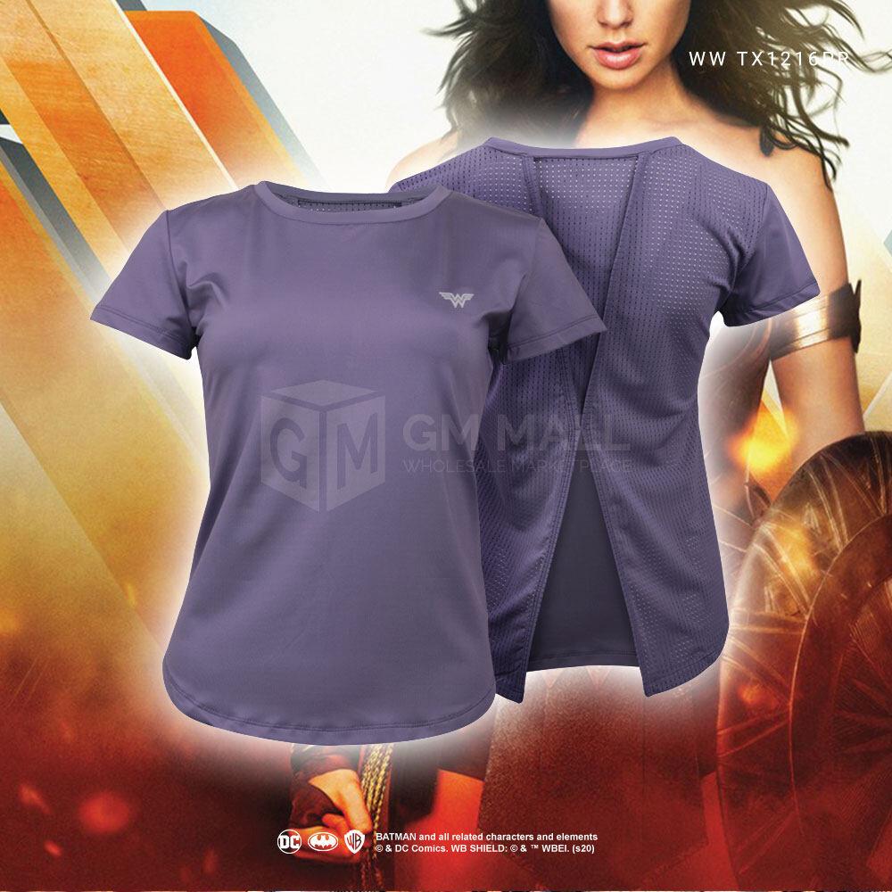 DC WONDER WOMEN Exclusive PURPLE Women Yoga Training Tee - Sport Gym Jogging Training Running Shirt [WWTX1216PR]