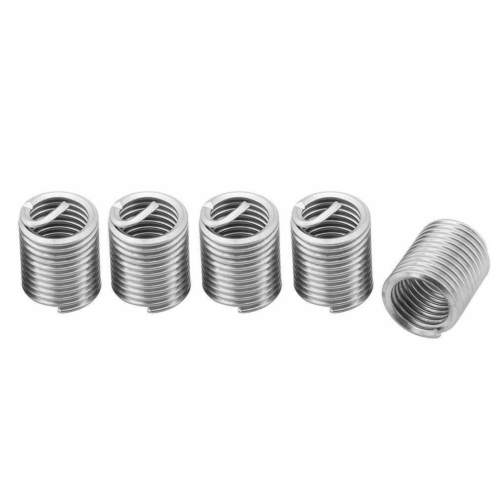 Best Selling 60Pcs Stainless Steel Wire Thread Insert Assortment Metric M3 M4 M5 M6 M8 M10 M12 Helicoil Type Thread Repair Kit (Standard)