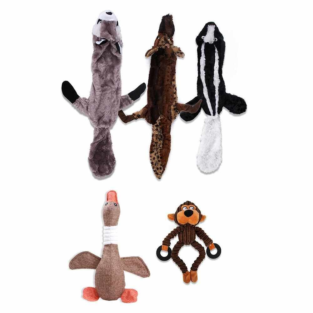 Squeaky Dog Toys Dog Plush Toys for Puppy Small Medium Pets 5PCS (Multicolor)