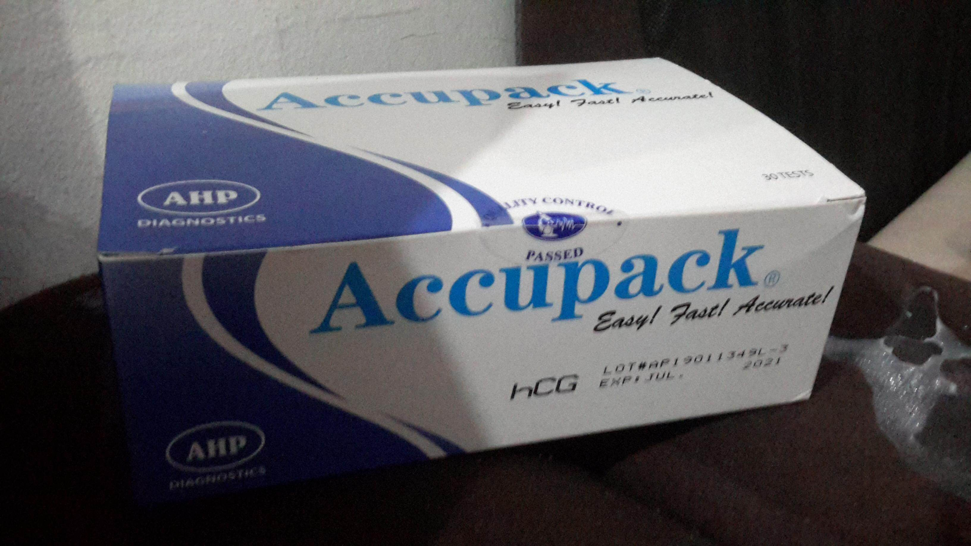 Accupack Urine Pregnancy Test Cassette 30 tests/box