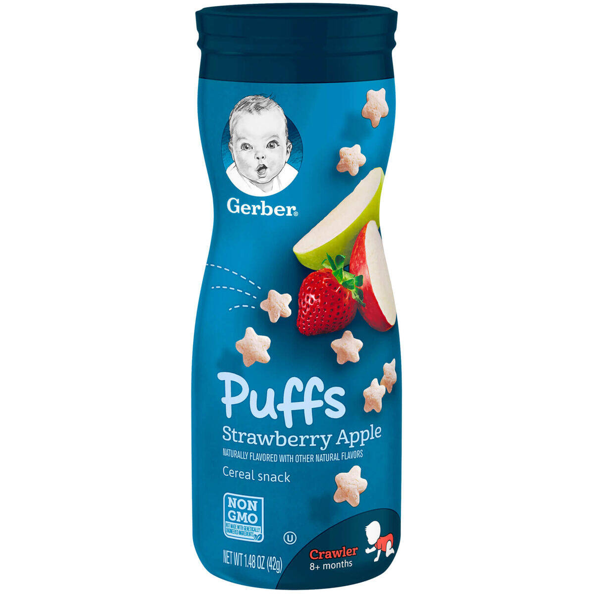 Gerber Puffs Cereal Snack Strawberry Apple 42g / 1.48 OZ