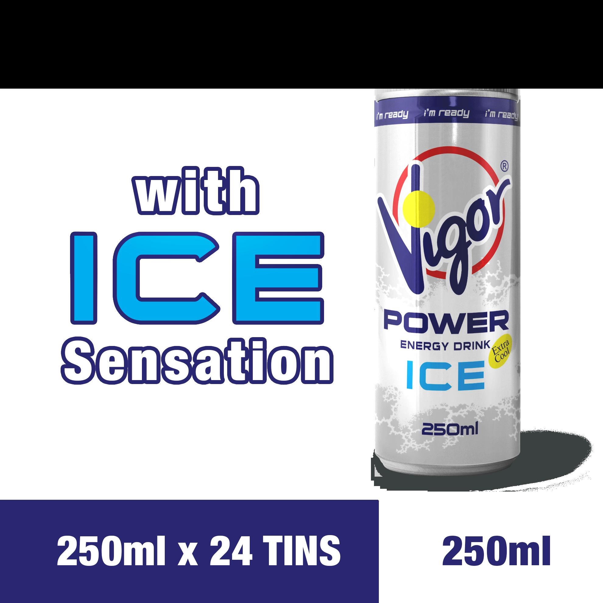 VIGOR Power Energy Drink (Iced) (250ml x 24tins)