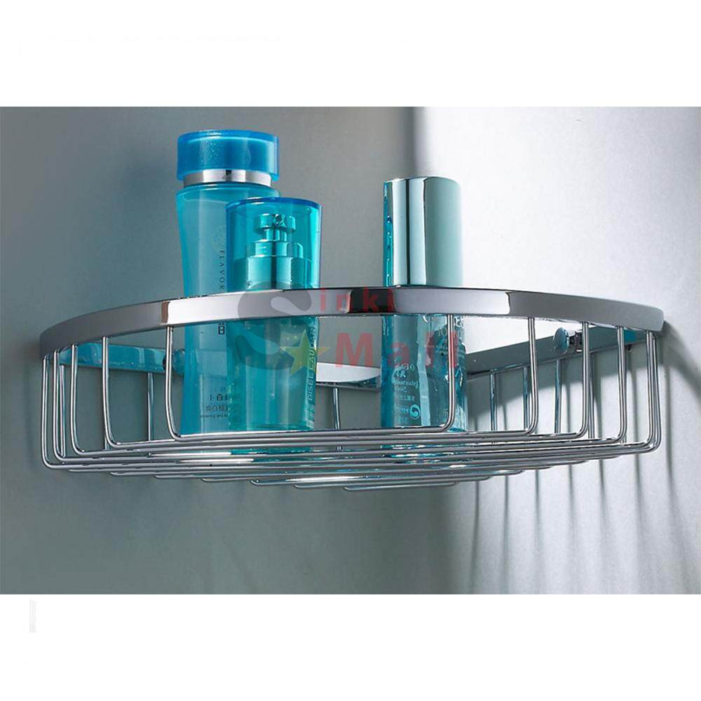 SUS304 Stainless Steel Bathroom Wall Mounted Storage Large Shower Basket, Polished Finish