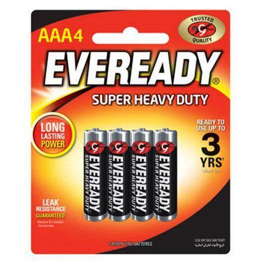 Eveready Heavy Duty AAA Battery (4pc)