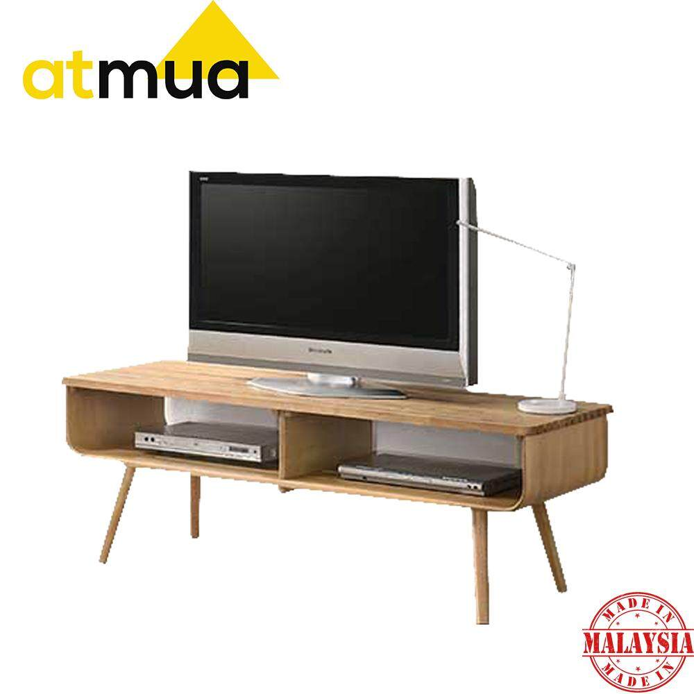 Atmua Slate 5 Feet TV Cabinet TV Console Suitable for 55 inch TV Full Solid Rubber Wood 2019 / 2020 Latest Design Furniture Designer Choice For Apartment / Condominium / Landed House