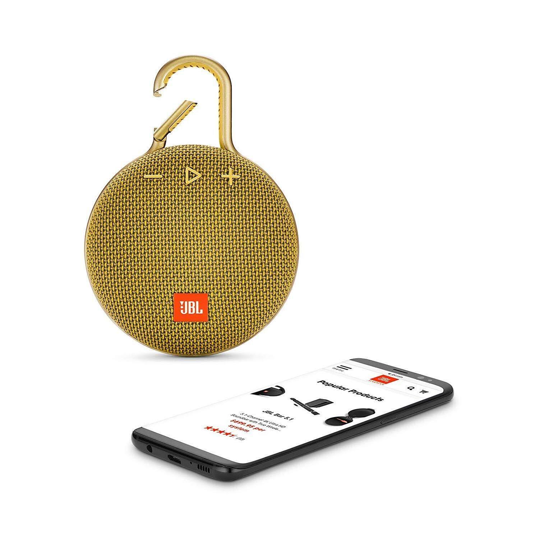 JBL Clip 3 Portable Waterproof Wireless Bluetooth Speaker (Black/Grey/Green/Pink/Red/Sand/Teal/White/Yellow)