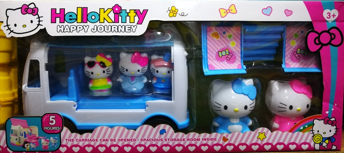 Hello Kitty Happy Journey Storage Toys Set for girls