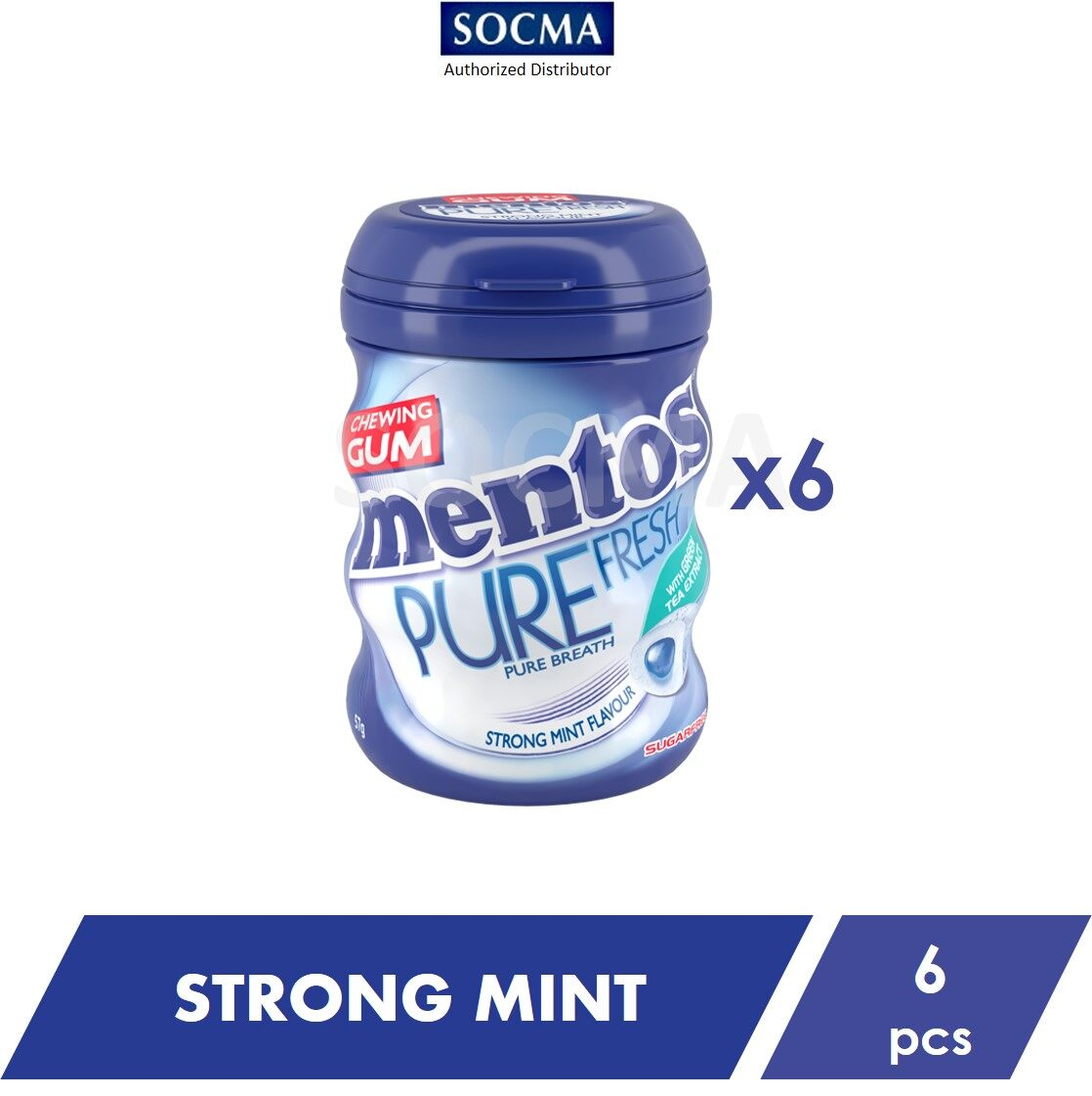 Mentos Pure Fresh French Bottle Strong Mint 57G [6]