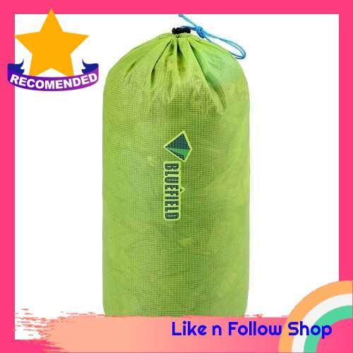 Ultra Light Drawstring Bag Nylon Water Repellent Bag Tent Peg Pouch Outdoor Equipment (L)