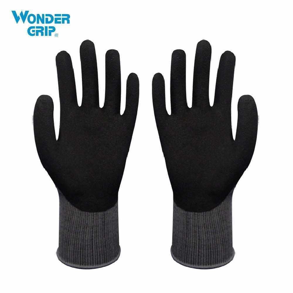 Wonder Grip Garden Safety Glove Nylon With Nitrile Sandy Coated Work Glove Abrasion-proof Universal Working Gloves (Xl)